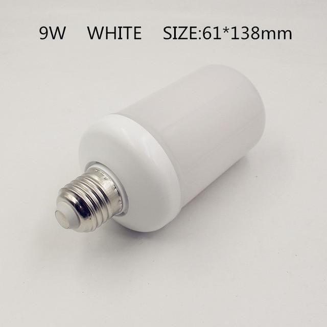 Inspire Uplift 9W White Shell / E14 LED Flame Effect Light Bulb