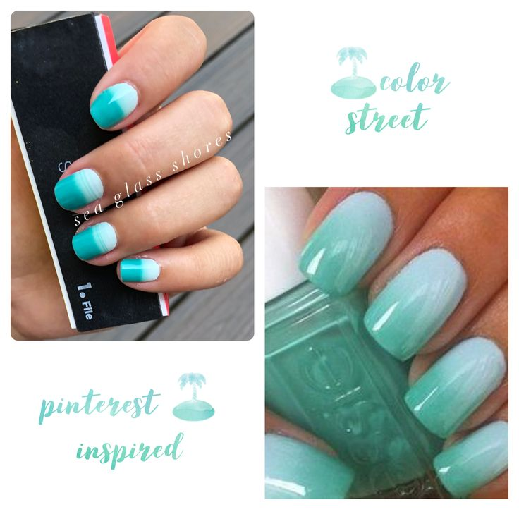 Ombr 233 Nails Without The Fuss Sea Glass Shores Color Street Nailart Ombre Naildesigns