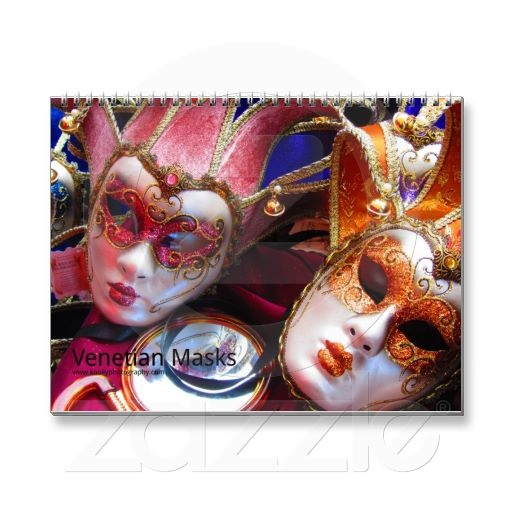 Venetian Masks Wall Calendars  More photos and products on: www.kookyphotography.com