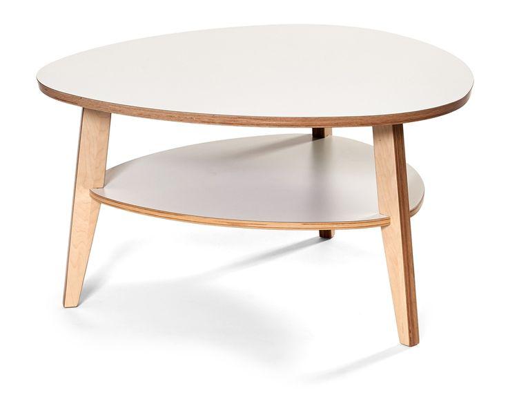 Köp STEFAN soffbord 90 plektrum H 50 cm björkplywood med vit laminat - Stort utbud hos EM.com