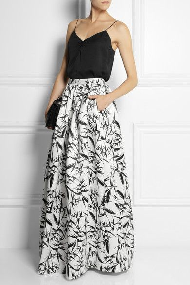 25  best ideas about Printed maxi skirts on Pinterest | Long white ...