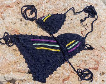 Crochet Bikini Top Ivory Bikini Top Sexy Bikini Set by creaspir