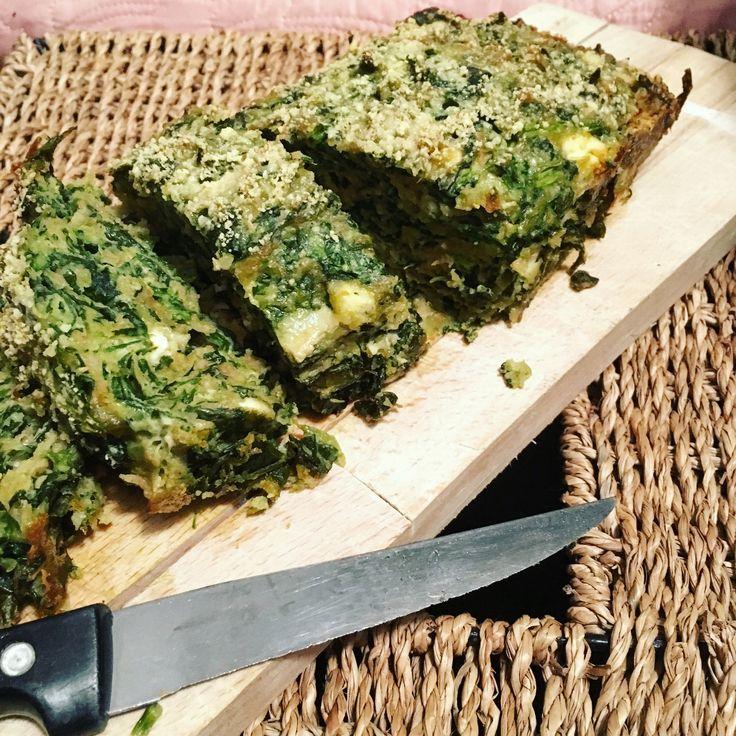 Kip spinazie feta cake