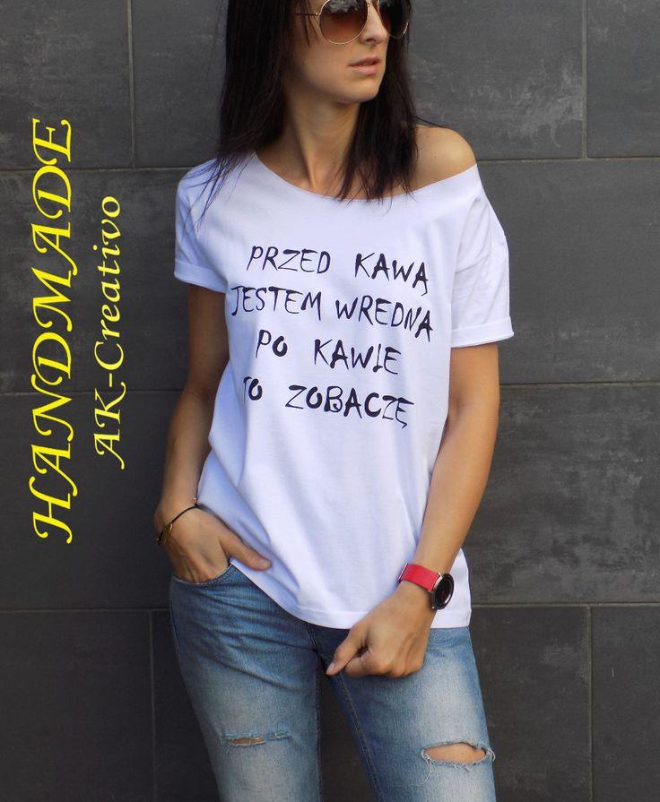 t-shirt ręcznie malowany - AK-Creativo