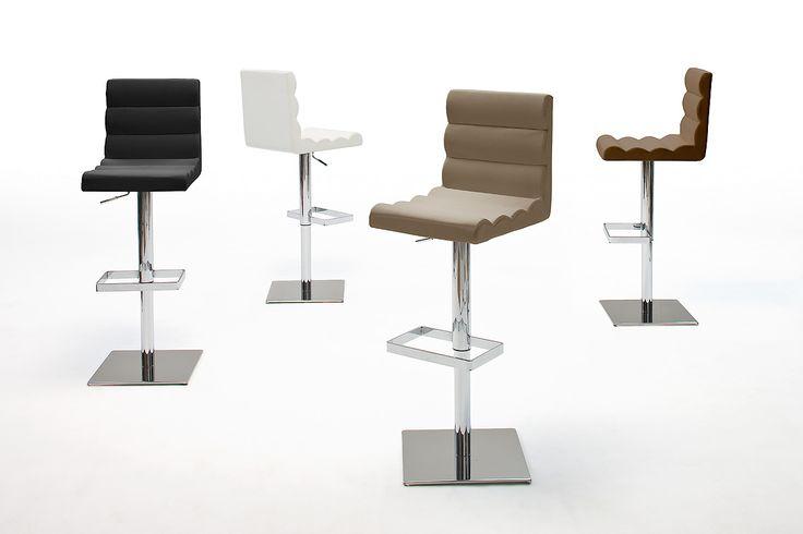 Barstuhl Eragon Barhocker 4 verschiedene Farbvarianten Material: Gestell:  verchromt Bodenplatte:  Edelstahl poliert ummantelt Sitz:  PU / Lederoptik / gepolstert...