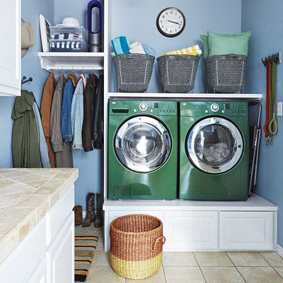 7 storage spots you aren't using (but should be): Beneath a washer and dryer. Rather than straining to reach items kept on shelves above these appliances, elevate them on a sturdy storage platform.