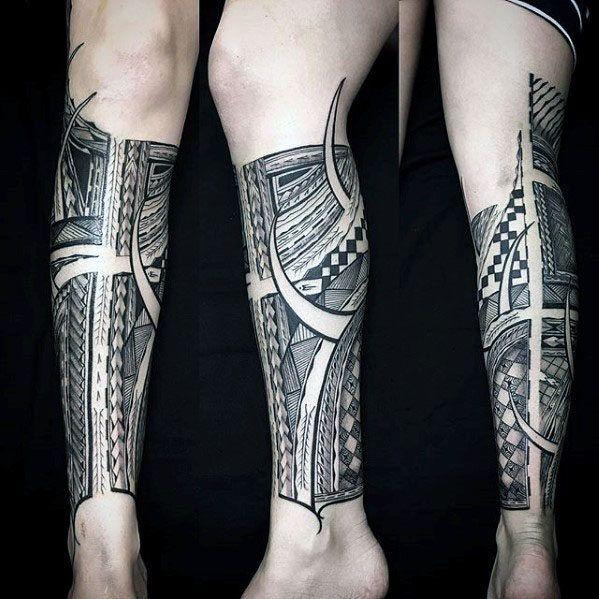 17 Best Ideas About Polynesian Leg Tattoo On Pinterest