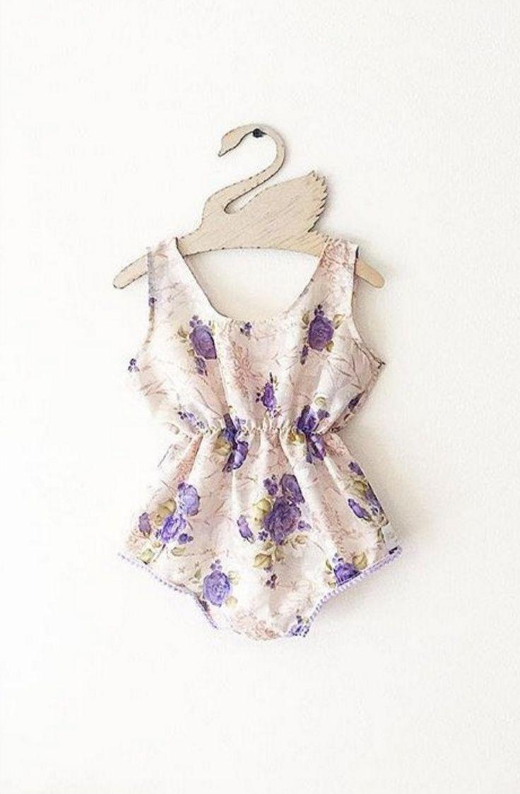 Handmade Floral Baby Romper | MissLylaBoutique on Etsy