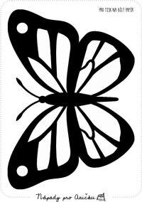 Šablona - Motýl do okna I.