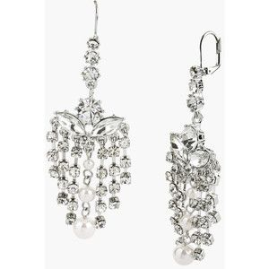 Betsey Johnson 'Pretty Punk Pearl' Crystal Chandelier Earrings