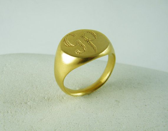 Men signet ring Monogram signet ring personalized ring gift