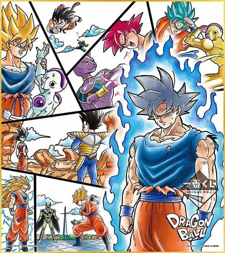 Goku throughout his life
