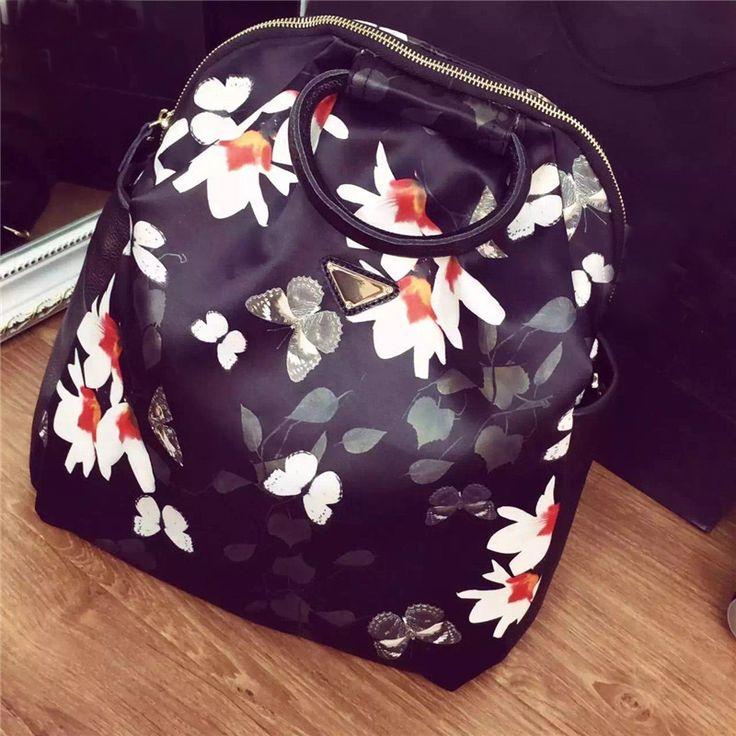 2016 рюкзак женский новый корейский улица мода женский печатных водонепроницаемый нейлоновый рюкзак оснащены кожаными мода рюкзаки  рюкзаки женские  для девочек подростков  женские джинсовые рюкзак женский холст