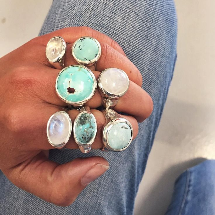 """Daniella Draper on Instagram: """"Natural Arizonian Turquoise and some of our mood stone rings! #danielladraper #arizona #turquoise #bespoke"""""""