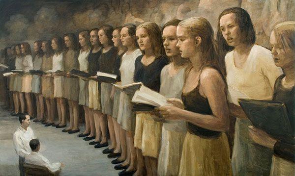 Bizarre paintings by Danish artist Peter Martensen