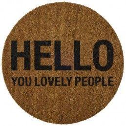 BLOOMINGVILLE Door Mat 'Hello You Lovely People'