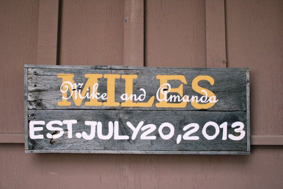 Personalized Driftwood Wedding or by PeaceLoveDriftwood on Etsy, $125.00