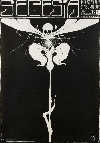 Secession (black) Secesja (czarna) Starowieyski Franciszek Polish Poster