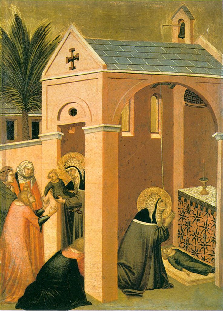 Pietro Lorenzetti - Humilitas brings a child back_ o life (1316)