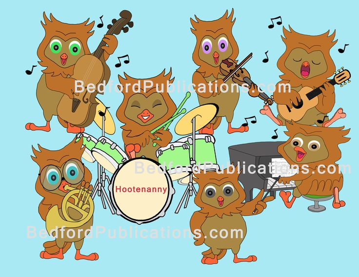 owl playing the guitar - photo #35