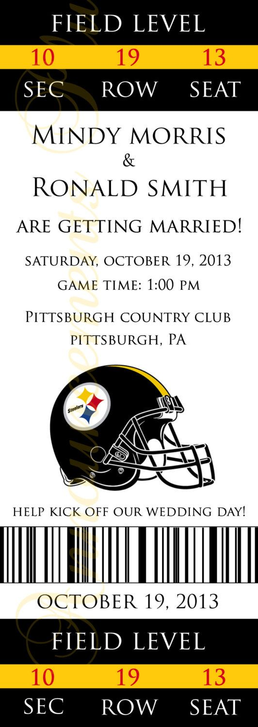 Best 20 Pittsburgh Steelers - Football Themed Wedding images on ...
