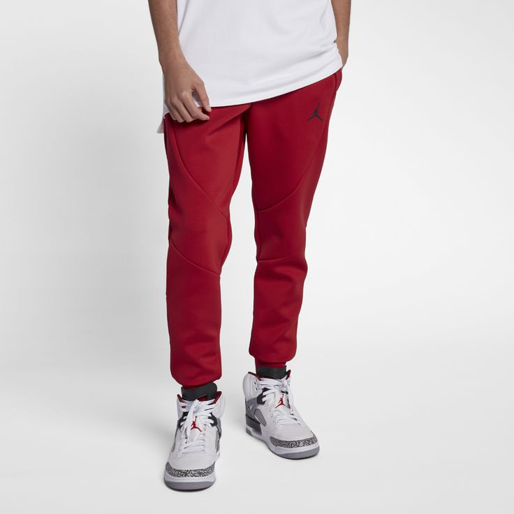 Jordan Sportswear Flight Tech Men's Fleece Pants, by Nike Size Medium (Red)
