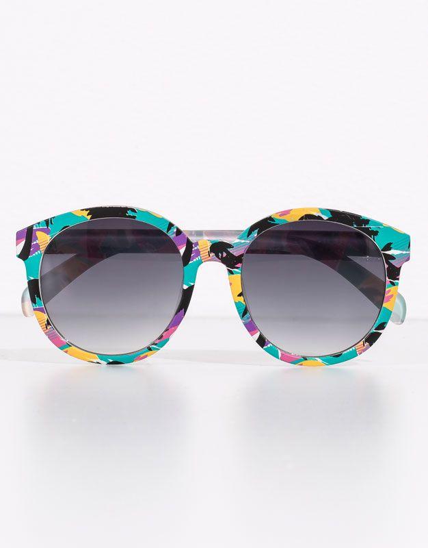 Pull&Bear - femme - lunettes de soleil - lunettes de soleil 90 - turquoise clair - 05898310-V2016