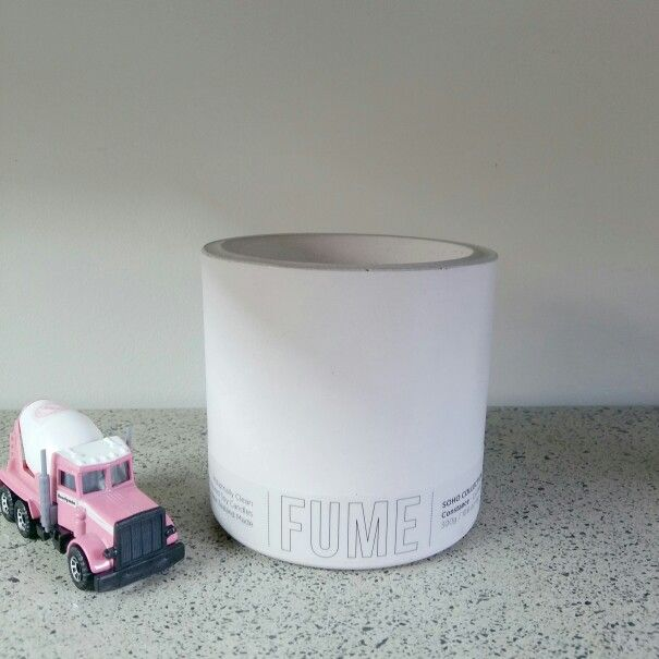 Soft pink concrete soy candle