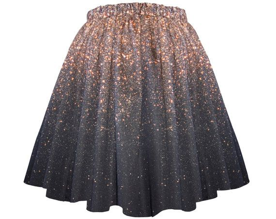 This is THE PRETTIEST skirt I have ever seen!!! Like, EVER!! || Stardust Galaxy Ombre Skirt  Long by Shadowplaynyc on Etsy, $138.00