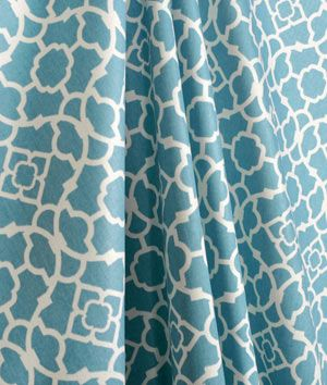 Waverly Lovely Lattice Azure Fabric. Drapery FabricCurtainsLattices