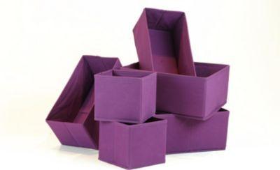 Artra Design Ordnungsboxen COLIN Violett 6er SET Aufbewahrungsbox Stoff Aufbewahrungskorb Faltbar Jetzt bestellen unter: https://moebel.ladendirekt.de/dekoration/aufbewahrung/kaestchen/?uid=167b9c38-1f78-5f25-a6c2-9ba70cd37917&utm_source=pinterest&utm_medium=pin&utm_campaign=boards #heim #aufbewahrung #kaestchen #dekoration