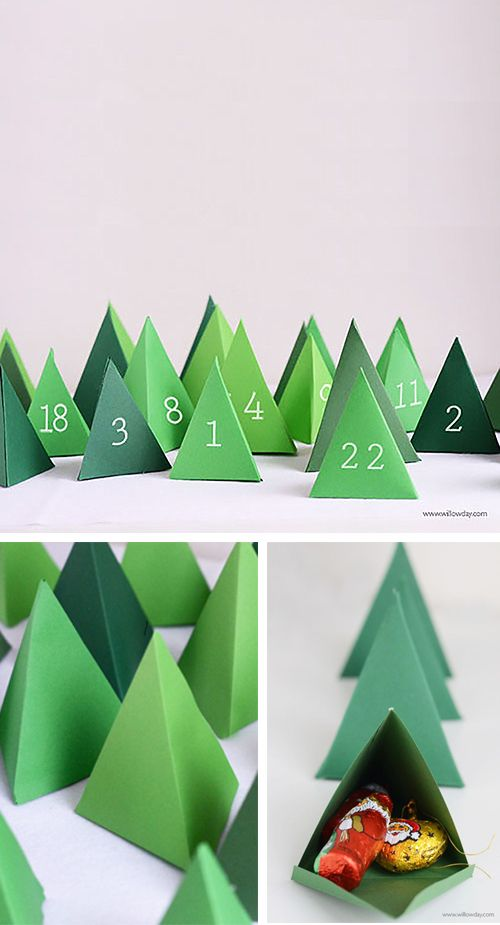 Printable tempter for Paper Advent Calendar  willowday