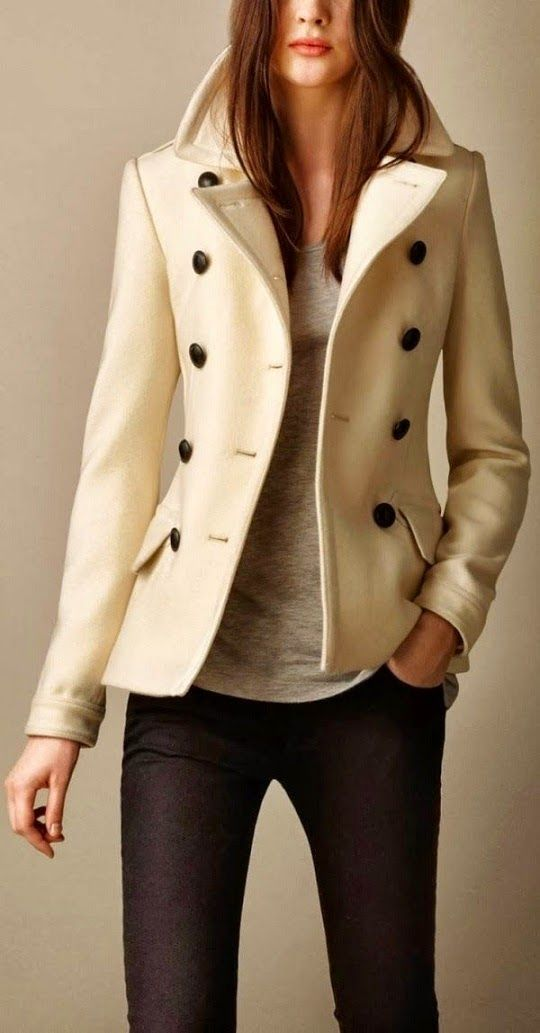 Burberry Pea #Coat   love this jacket, classy...fashion seems to be looking a little further back in time then usual..heading into the 1890's in some cases and that's just fine with me
