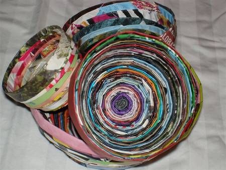 Home made Magazine bowls! Great for Christmas gifts and really easy to do!!!