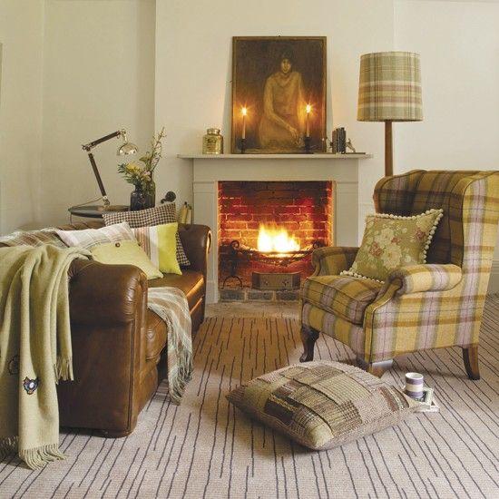 Country furnishings - tweed and tartan create that rustic look