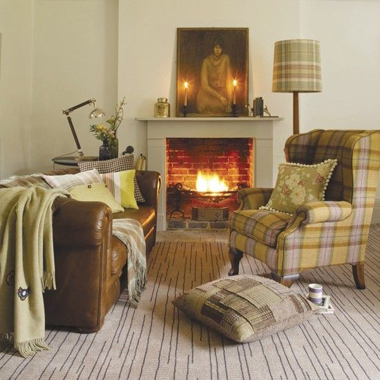 Country furnishings - tweed and tartan create that rustic look