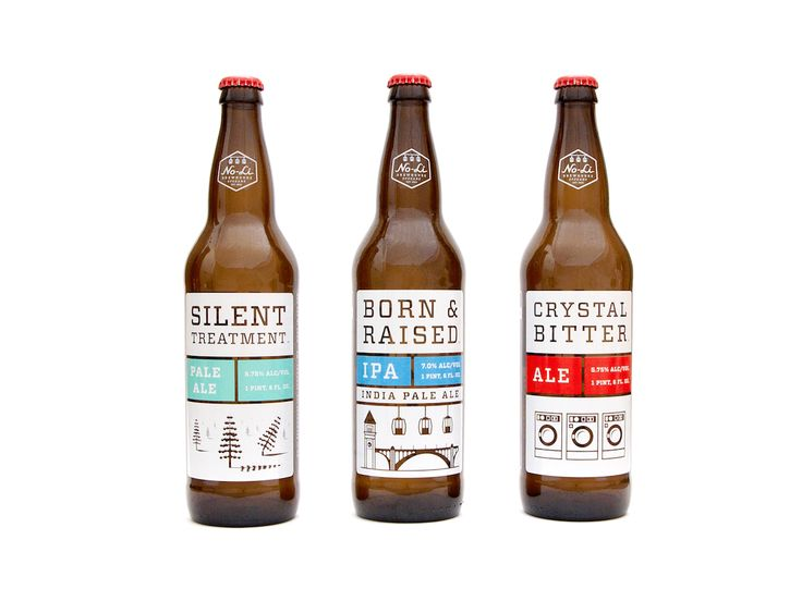 Beer bottles - Great designDesign Inspiration, No Li Brewhouse, Beer Packaging, Packaging Design, Beer Bottle, Noli Brewhouse, Beer Labels, Rileycran, Riley Cran