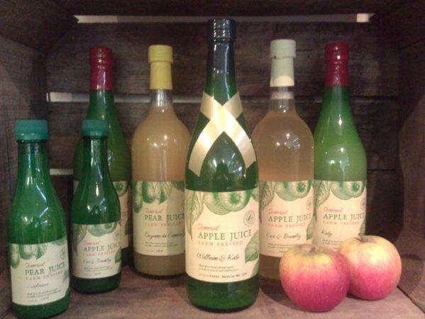 Fresh, fresh, tree-picked apple juice.