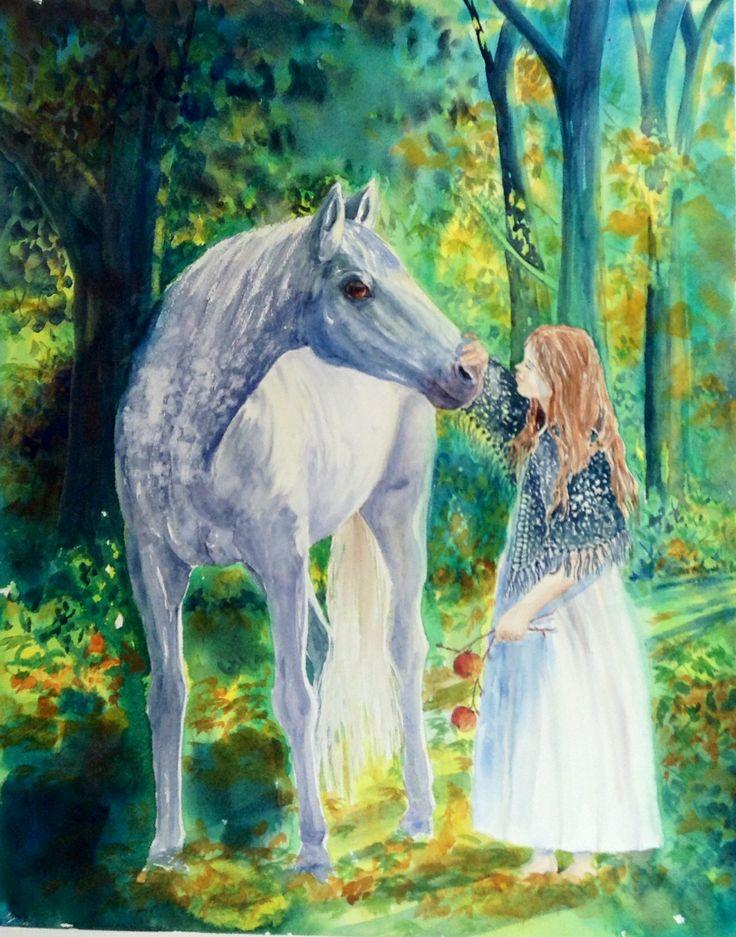 'Magical Encounter' watercolour by Liz Butcher