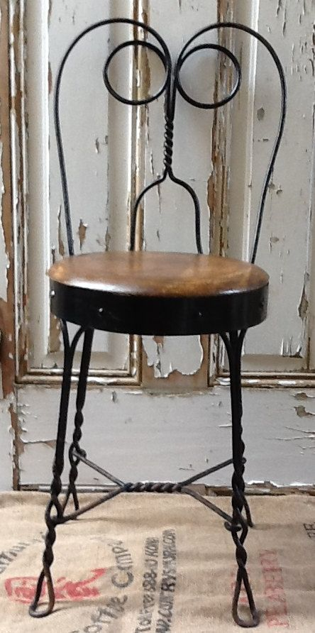 Antique Iron Wood Ice Cream Parlor Chair Vintage Goos Pinterest Antiques And