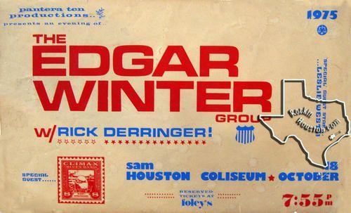 Edgar Winter, Oct 18, 1975, Sam Houston Coliseum