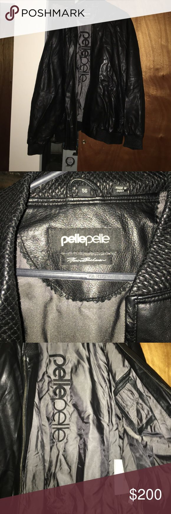 Black Pelle Pelle leather jacket Previously loved, but still in great condition! Pelle Pelle Jackets & Coats