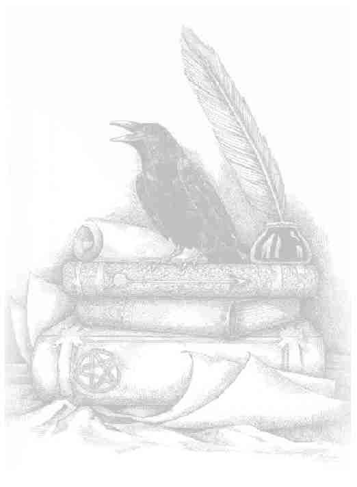 Crow guarding BOS (this is a raven and the artist is the very talented Sabrina Ink Witch)