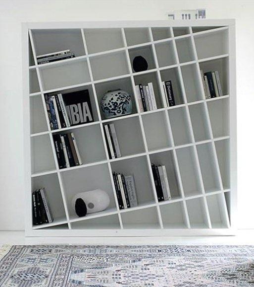 Freestanding lacquered bookcase GIANO K by ESTEL | design Monica Bernasconi, Norberto Delfinetti