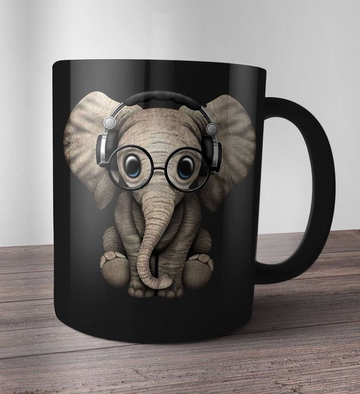 Delightful Cute Elephant Mug