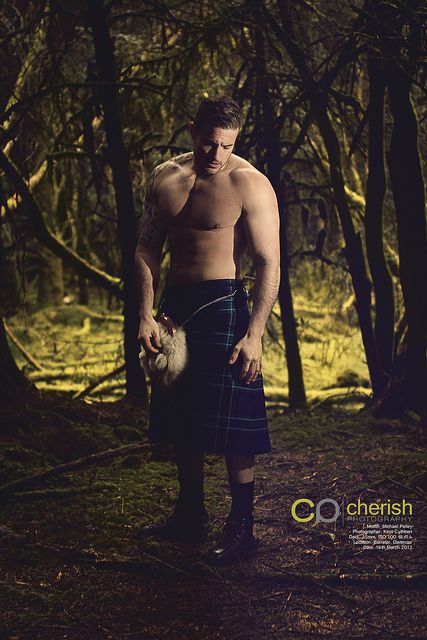 Men in Kilts - 2014 Calendar - Photo Shoot by Cherish Photography Design, via Flickr The PERFECT Birthday gift!!!