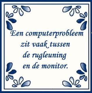 Een computerprobleem