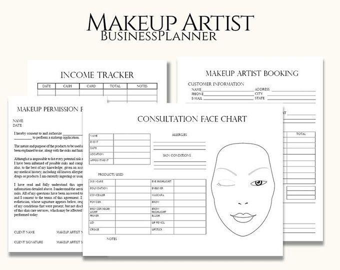 Floral Makeup Artist Business Planner Bundle Freelance Makeup Etsy In 2021 Makeup Artist Business Freelance Makeup Makeup Artist