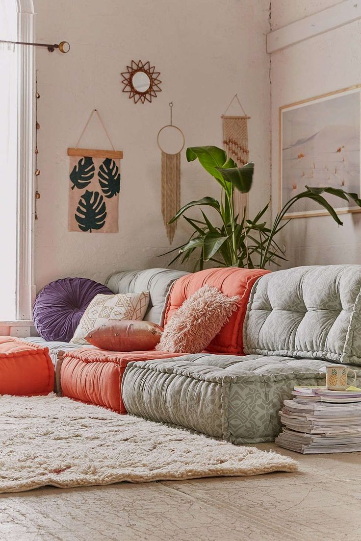 Soft Comfy Floor Cushion For Extra Seating In Any Space