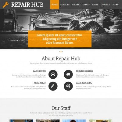 The 159 best templates images on pinterest car repair website template shop small business repair hub is a small business and repairing shop website template this catchy and beautiful designed flashek Images